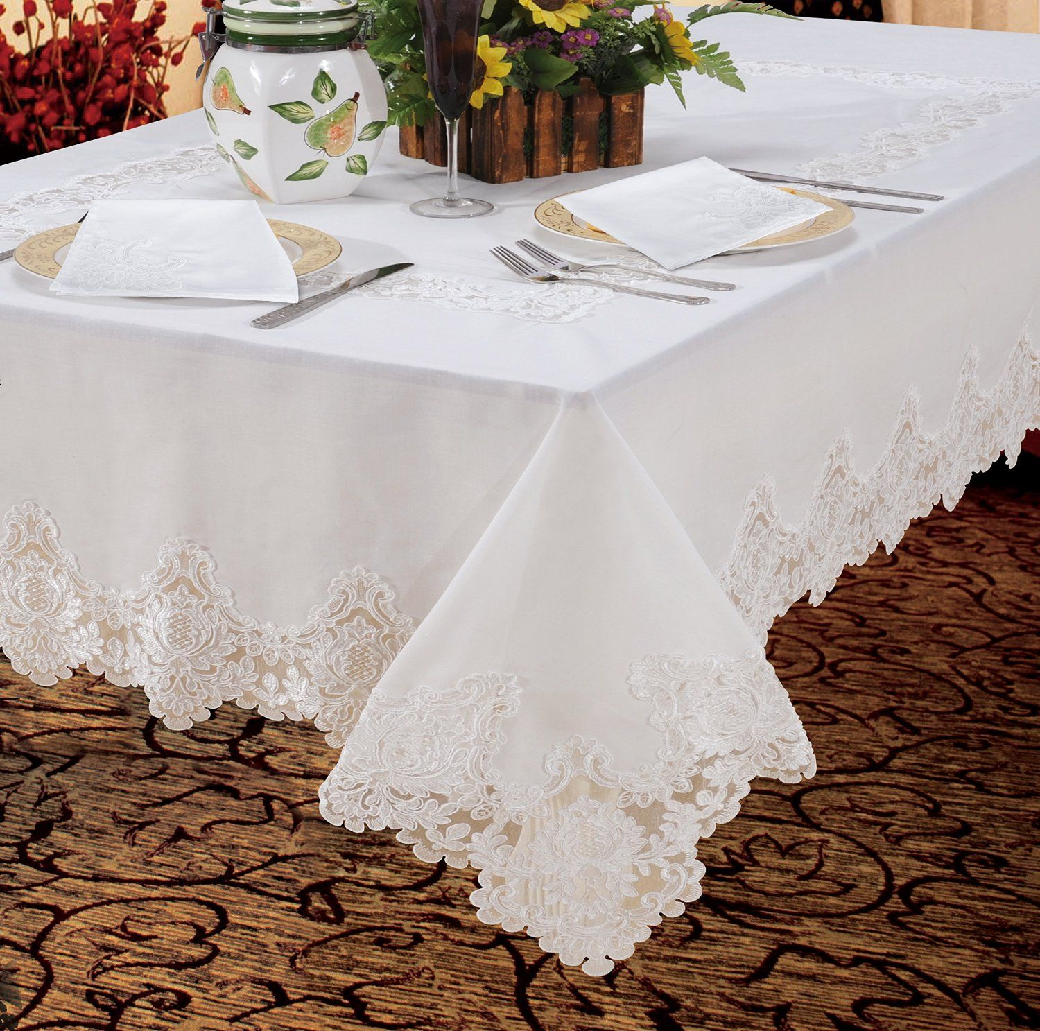 Amazon.com: Imperial Embroidered Vintage Lace Design 70\