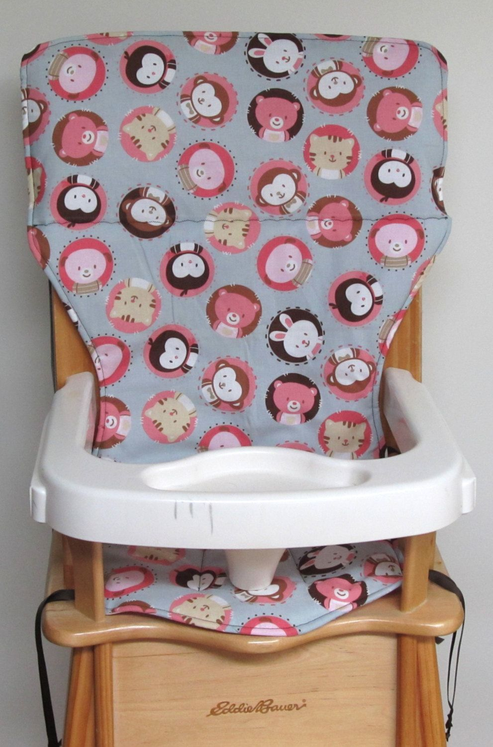 Ed Bauer Wooden High Chair Pad Replacement Cover Animal Bubbles By Sewingsillysister On Etsy