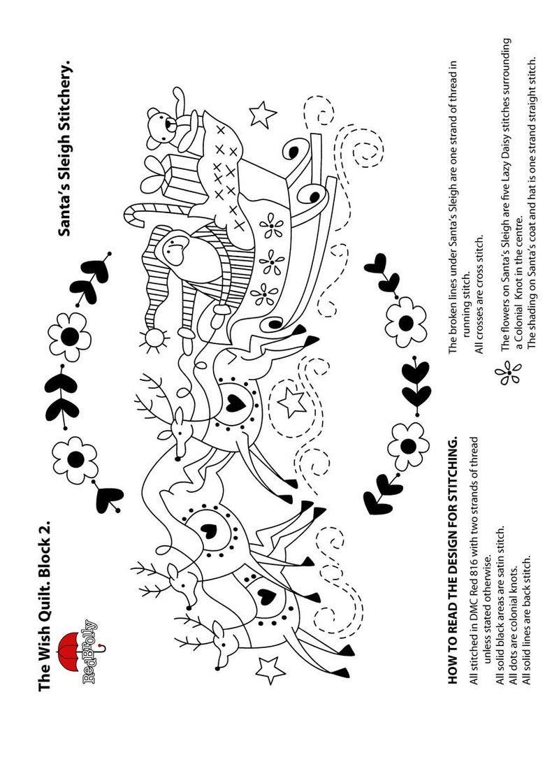 Sleigh El Deseo de Edredón-Santa. | Bordado | Pinterest | Edredones ...