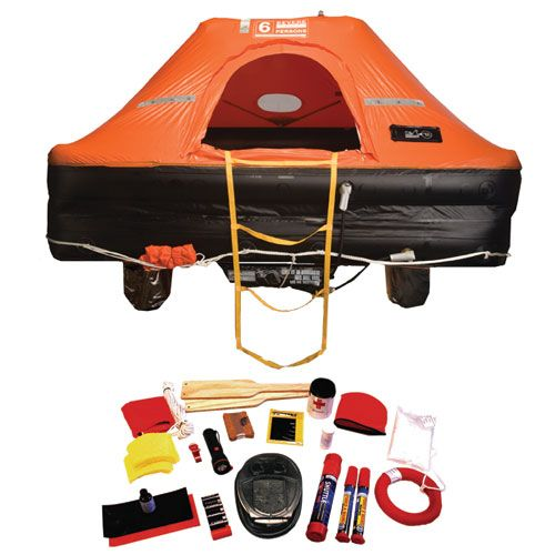 Offshore Commander Life Raft, 4-Person, Valise   On the