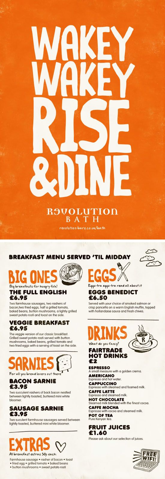 Breakfast Menu Colourful Graphic Design Menu By Www Diagramdesign Co Uk Breakfast Menu Design Menu Design Inspiration Menu Design Layout
