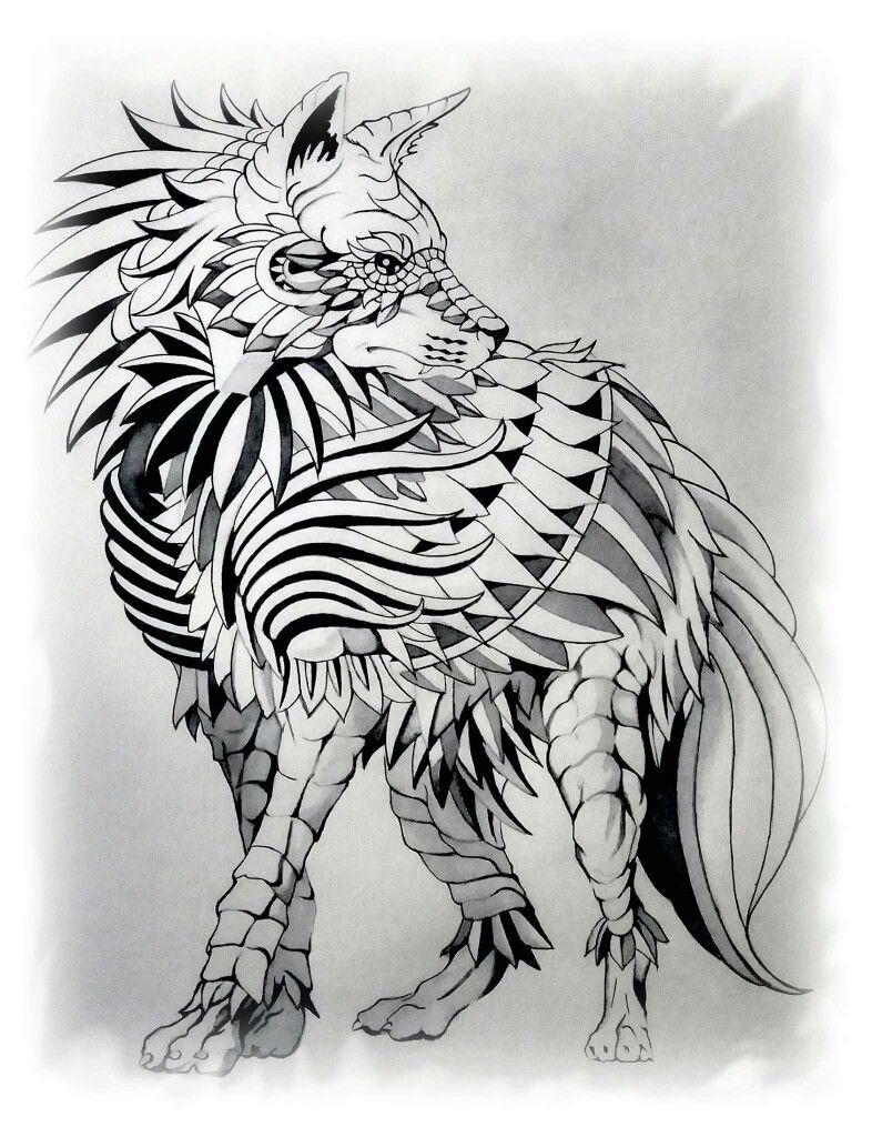 Pin by fabiolamorales on Animals   Wolf tattoos, Art, Zentangle art