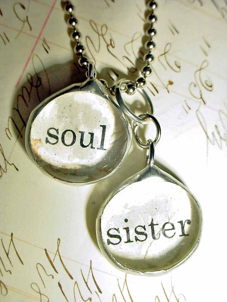 Soul sister necklace soldered collage art charm glass bubble soul sister necklace soldered collage art charm glass bubble pendant supplies http aloadofball