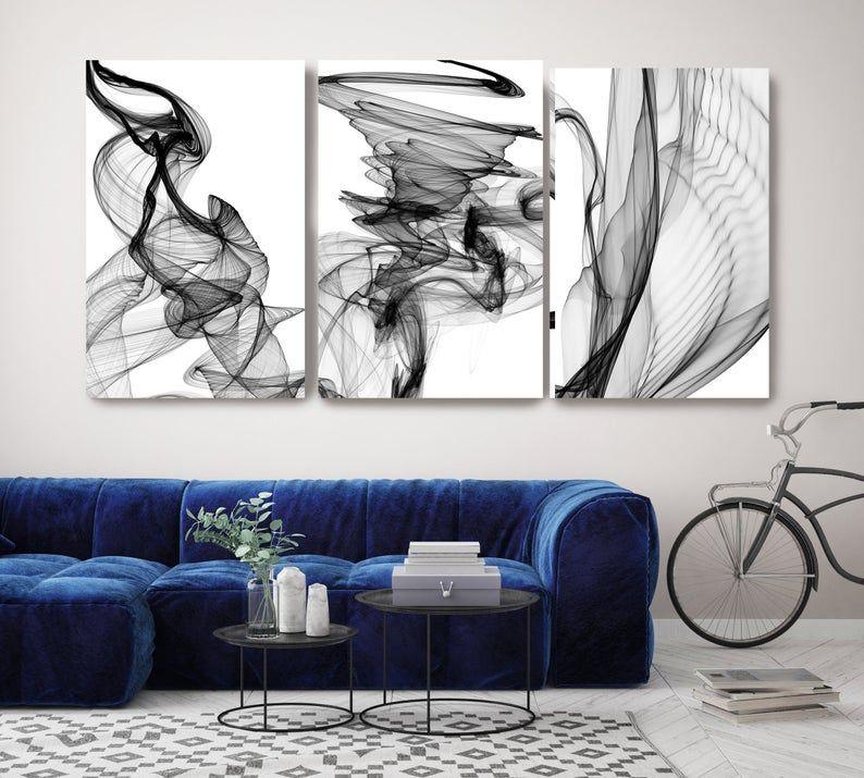 new media black white triptych canvas art prints 3 panels on canvas wall art id=48742