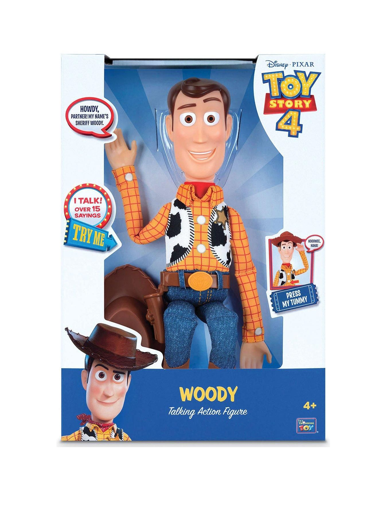 Toy Story 4 Sheriff Woody w// Interactive Drop Down Action Voice Command Kid Gift