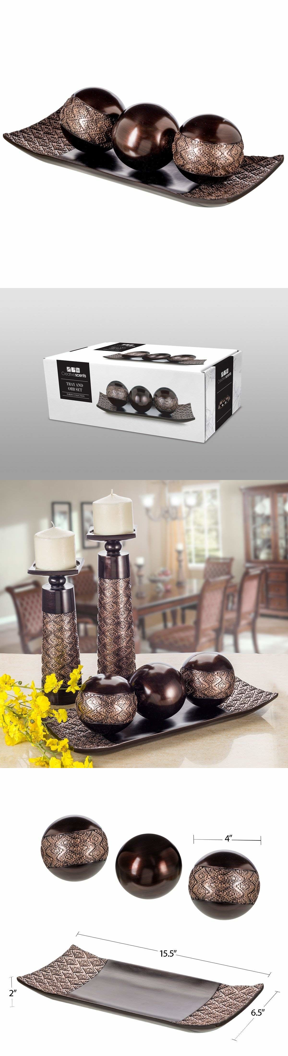 dublin decorative tray and orbs balls