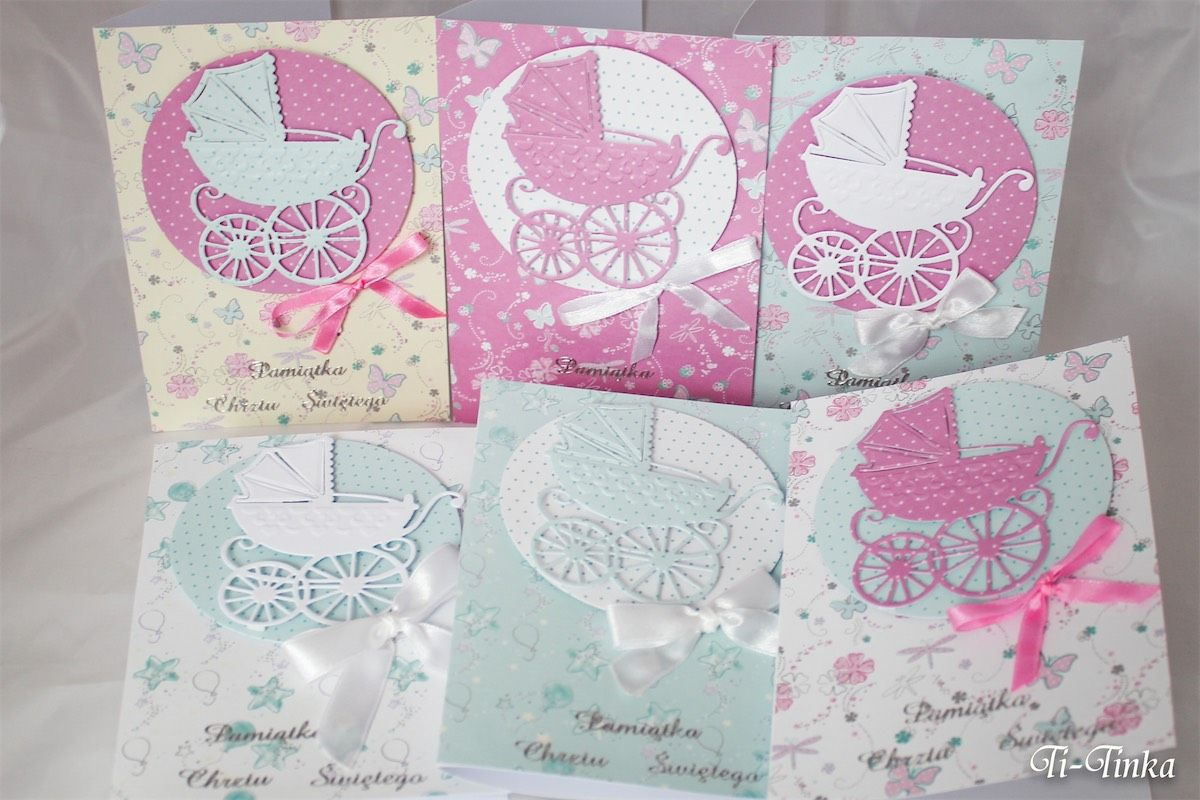 Kartki Na Chrzest Z Wozeczkami Moje Kartki My Hand Made Cards