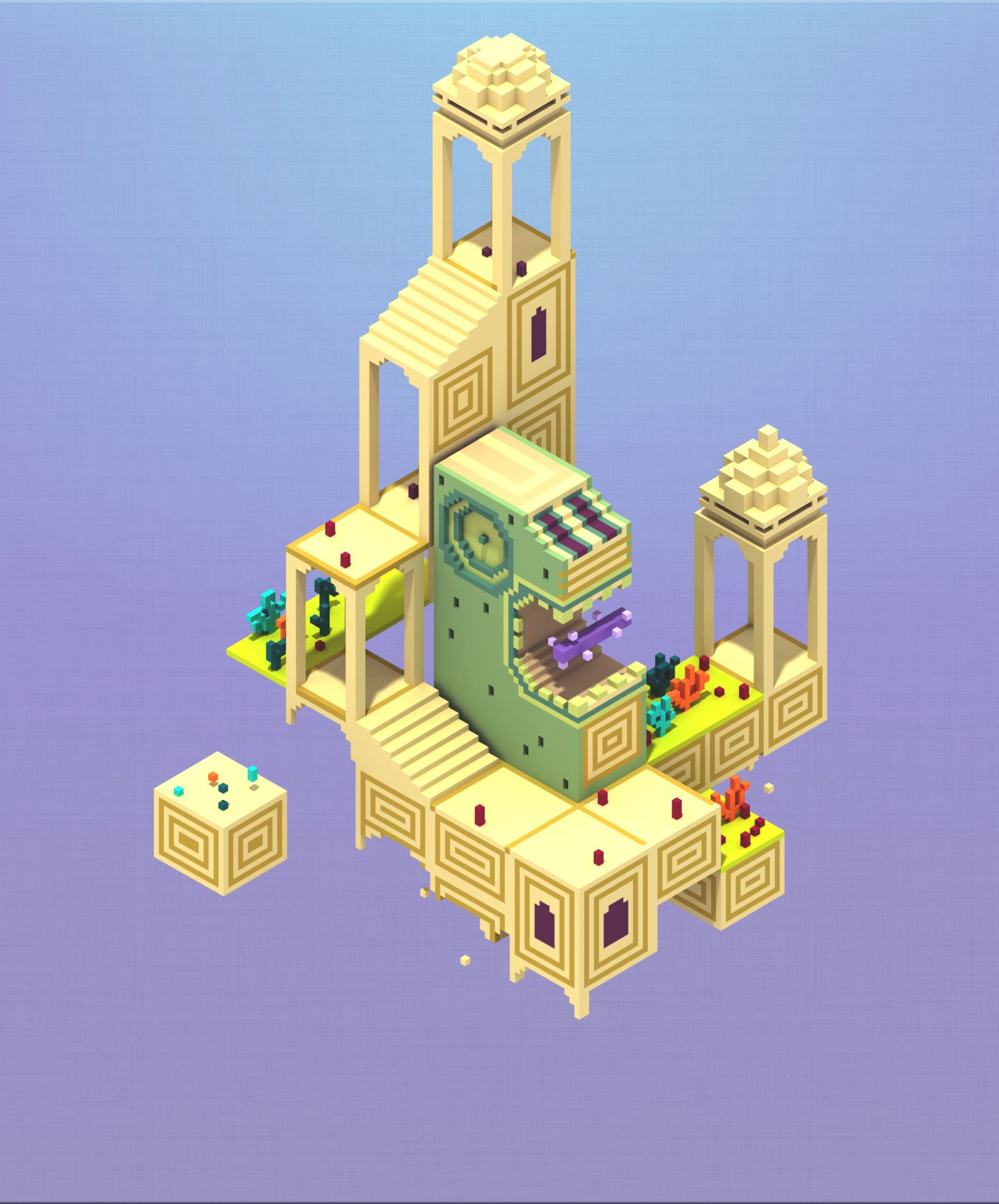 Artstation Monument Valley Fanart Quyền Anh Monument Valley