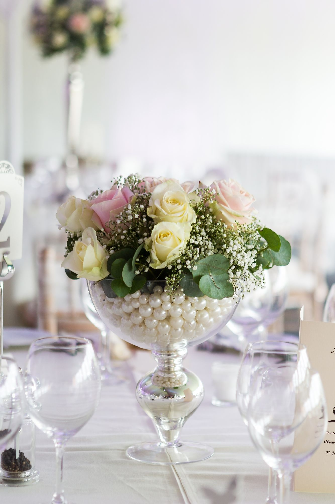 Blooming Lovely - a glamorous footed vase creates a stunning wedding ...