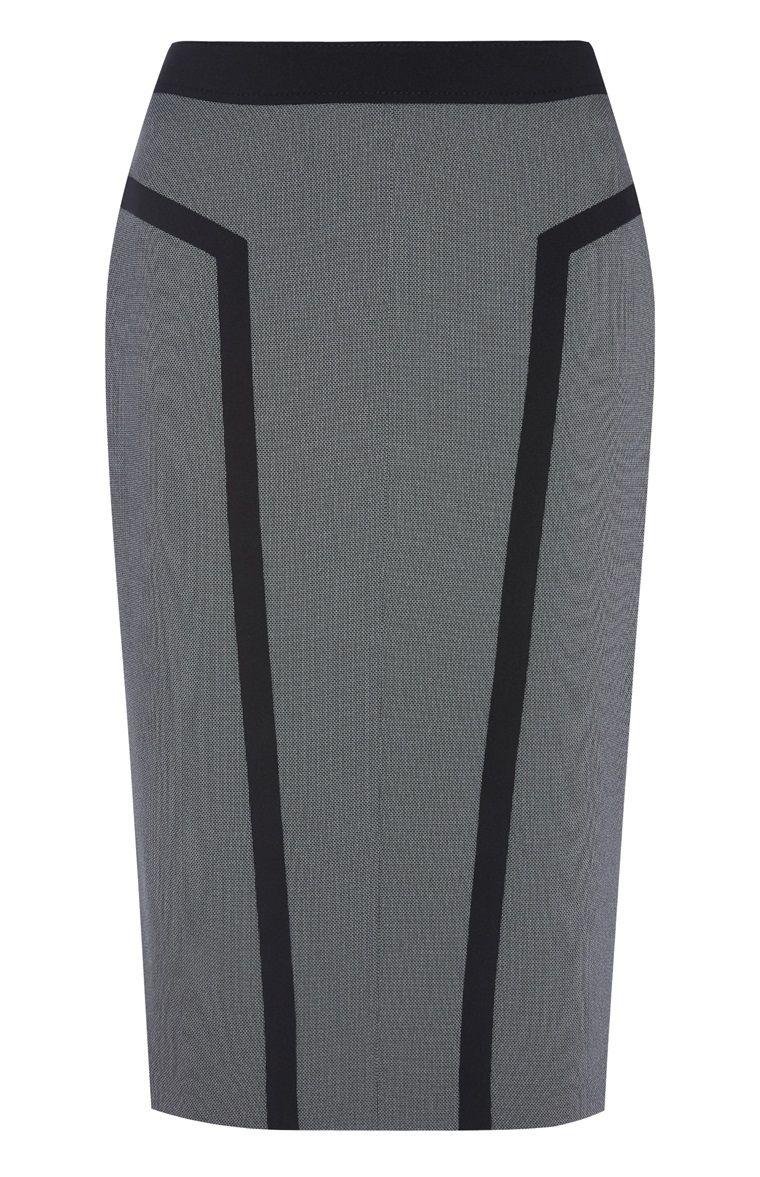 0bfa4b7a204c8 Primark - Grauer Bleistiftrock mit schwarzen Streifen | Ein Rock ...
