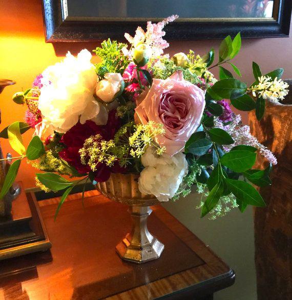 Beautiful Bronze Footed Vase Weddings Centerpiece Centrepiece