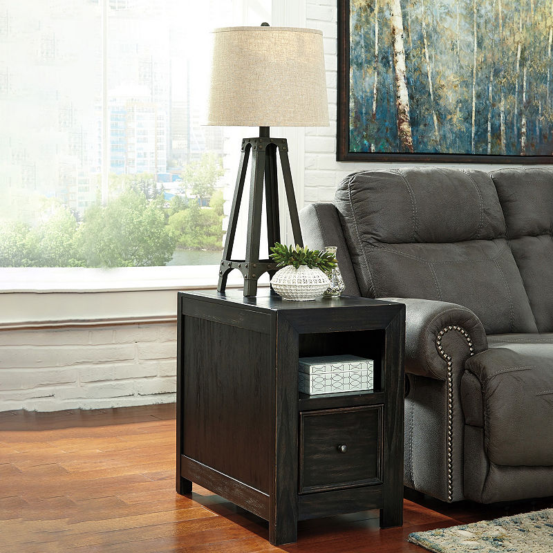 Signature Design By Ashley Gavelston Chair Side End Table End