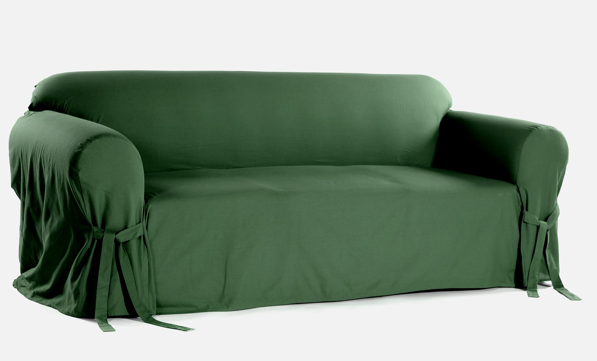 Classic Slipcovers Cotton Duck one piece loveseat slipcover Green