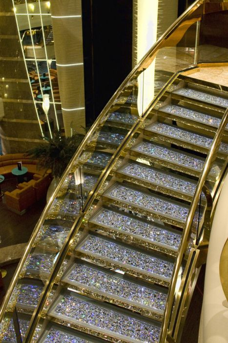 Escalator Bling Glitter Stairs Luxury House Designs Stairs