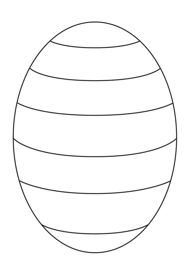 Blank Easter Egg Template To Create Your Own Patterns For Pre K And Kindergarten Kids