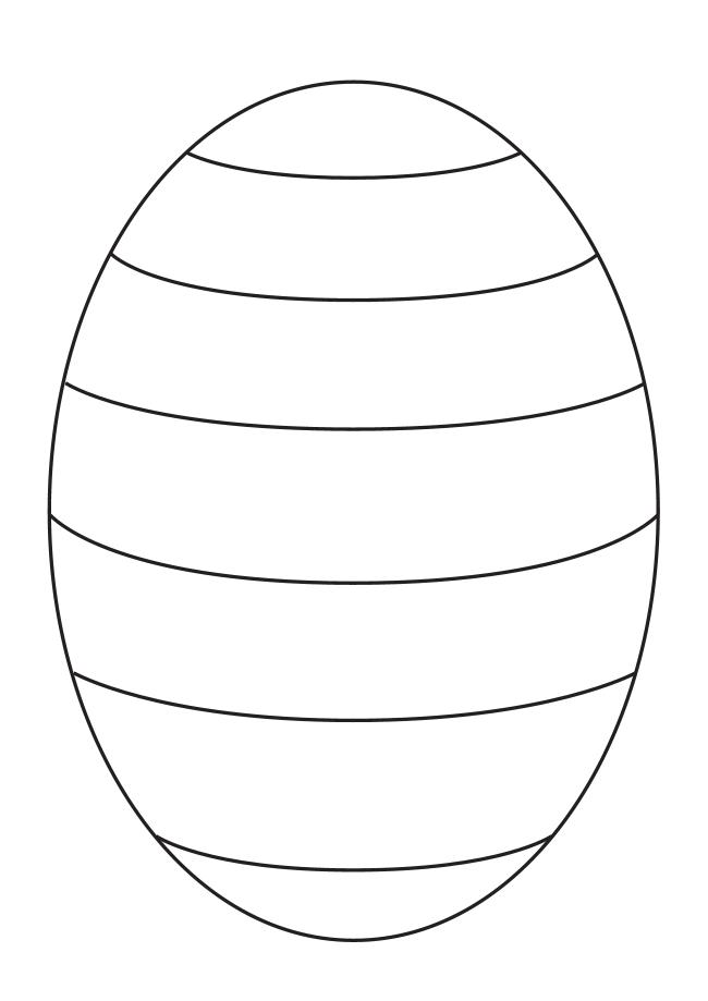 Easter egg outline template