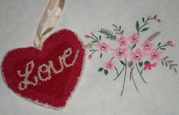 Valentine Love Heart Cupboard Door Hanger by HunnyCraftsPrimitive