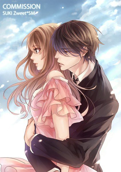 Anime Picture 705x1000 With Sukiblog Long Hair Tall Image Short Hair