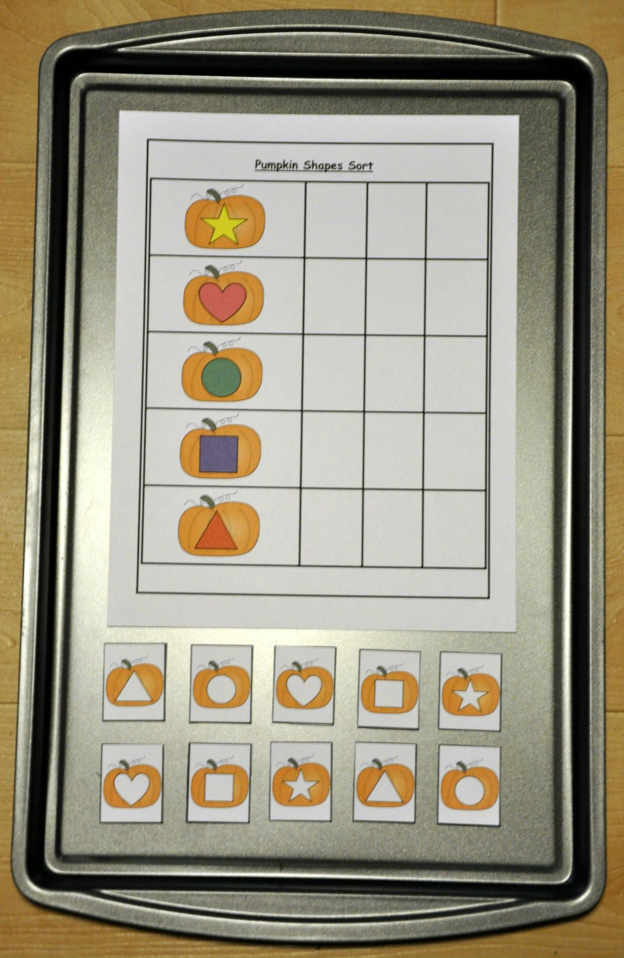 Pumpkin Shapes Sorting Review Shapes With This Cute Pumpkin Themed Shapes Sorting Activity
