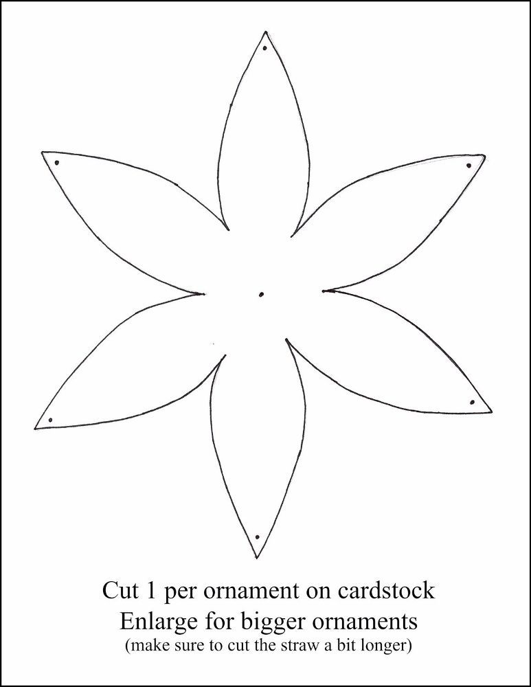 Easy Paper Ornaments (Pattern Included) | Paper ornaments, Ornament ...