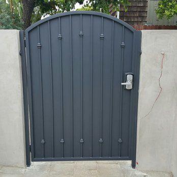 Sheet Metal Gate In Newport Beach Yelp Iron Garden Gates Metal Garden Gates Iron Gate Design