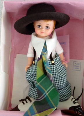 This Madame Alexander Dressed Like Daddy 8 In. Doll with a Maggie face from 1996 has been relisted on Ebay as a Buy-It-Now item.
