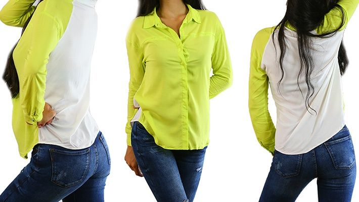 65% off Long Sleeve Neon Fluo Shirt ($17.5 instead of $50)