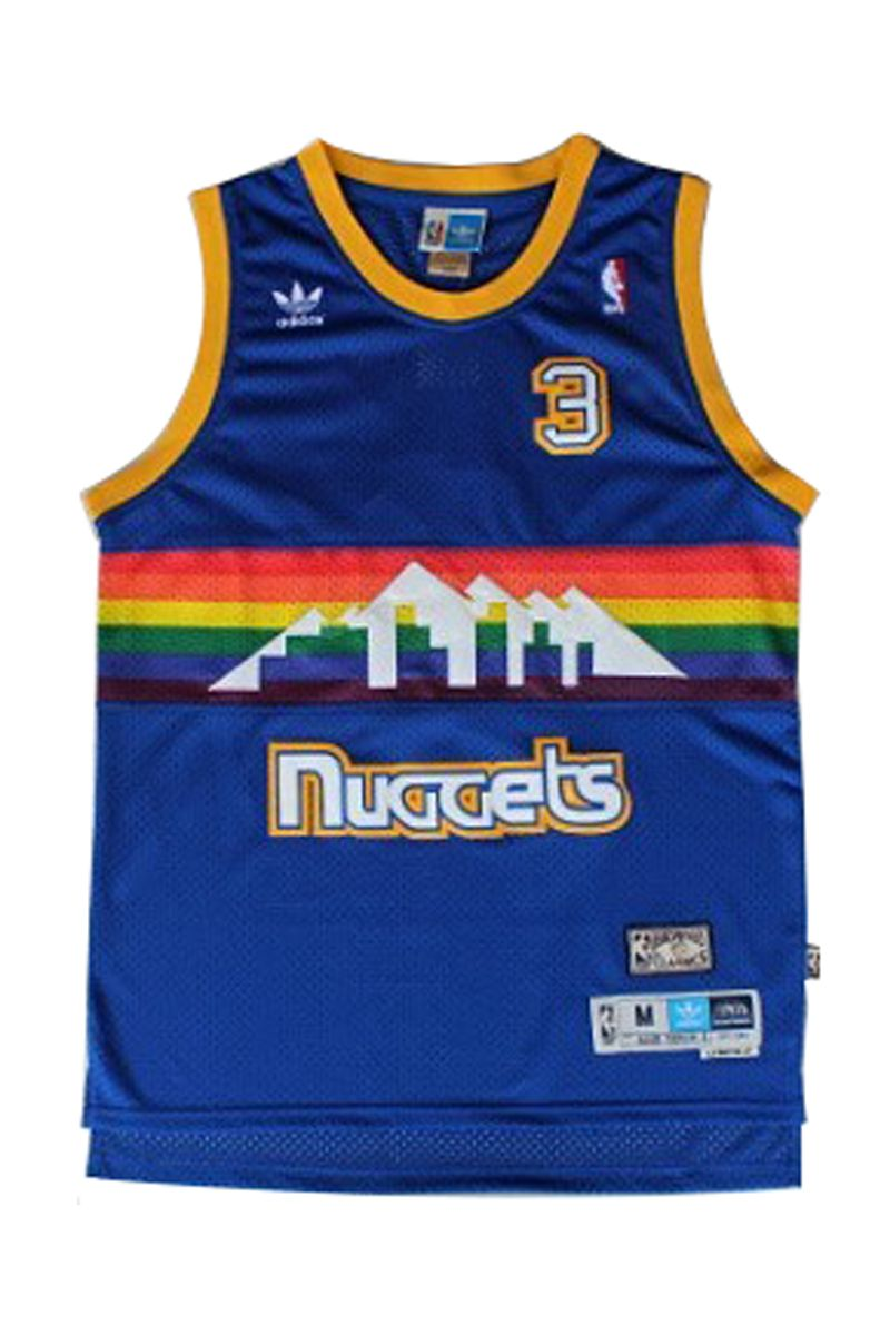 a7c076440 Allen  Iverson 3  Danver Nuggets Rainbow Throwback Basketball  Jersey.- 23.88 http