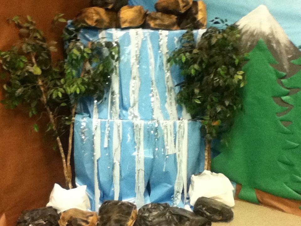 Classroom Waterfall Ideas ~ Vbs waterfall display pinterest