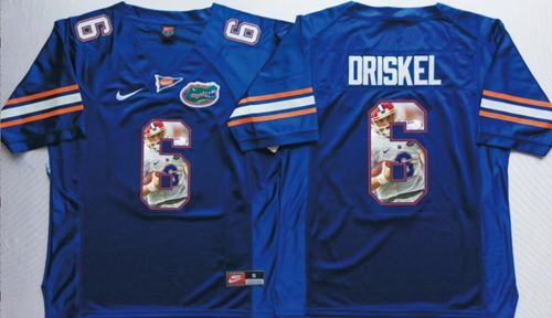 new product cfdc2 55194 Gators #6 Jeff Driskel Blue Player Fashion Stitched NCAA ...