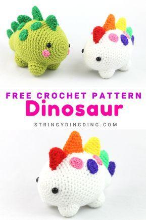 Photo of Dinosaur Amigurumi – Free Crochet Pattern – StringyDingDing