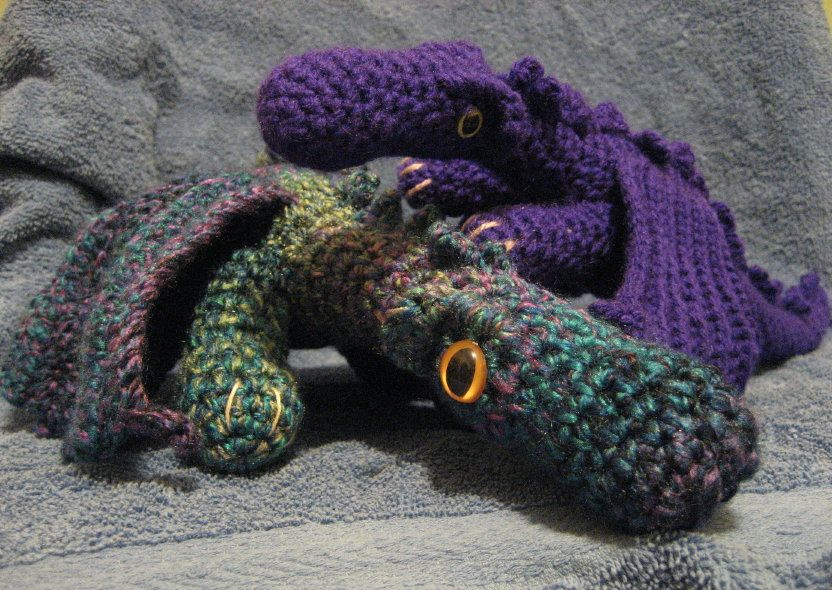 Cthulhu Crochet and Cousins: Here Be Dragons | Fantasy World Crochet ...