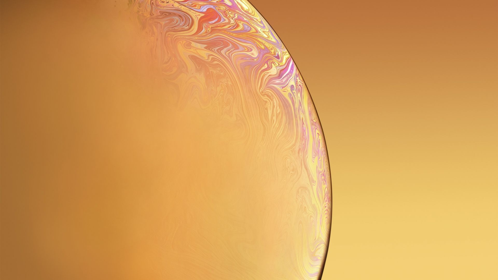Earth Planet Bubble Yellow Red Iphone Xr Ios 12 Stock Hd Wallpaper Earth Yellow Wallpaper Iphone