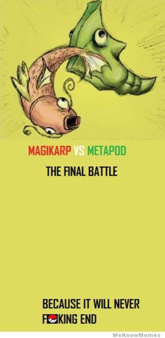 MAGIKARP vq METAPODThe Final Battle!www.desmotivaciones.es