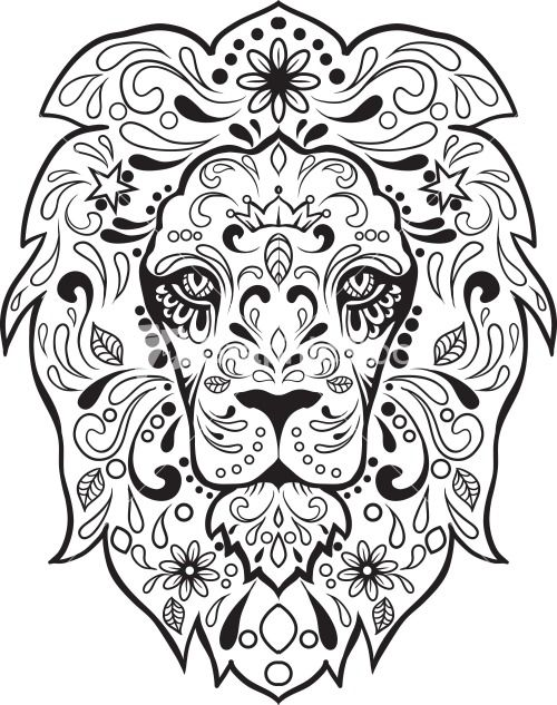 sugar skull image pdf - Google Search*vector* | Bordado mexicano ...