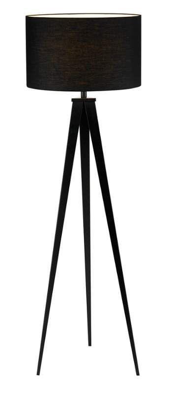 Adesso 6424 01 Black Director Single Light 60 1 4 High Tripod Floor Lamp Directors Floor Lamp Floor Lamp Black Floor Lamp