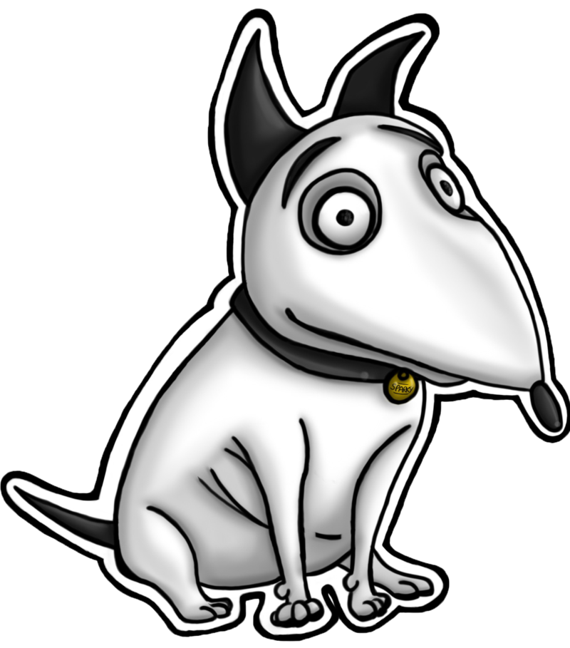 Sparky Dog Art English Bull Terrier Drawing Dogs Zombiedog