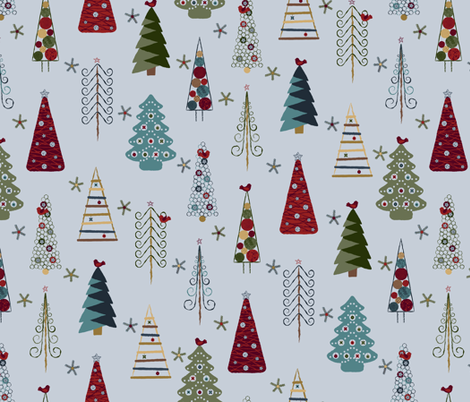 Colorful Fabrics Digitally Printed By Spoonflower Scandinavian Christmas Trees Vintage Hd In 2020 Christmas Tree Wallpaper Scandinavian Christmas Trees Christmas Card Inspiration