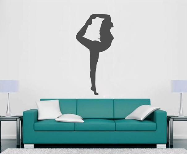 ik2228 wall decal sticker girl gymnast sports hall bedroom on wall stickers for hall id=43431