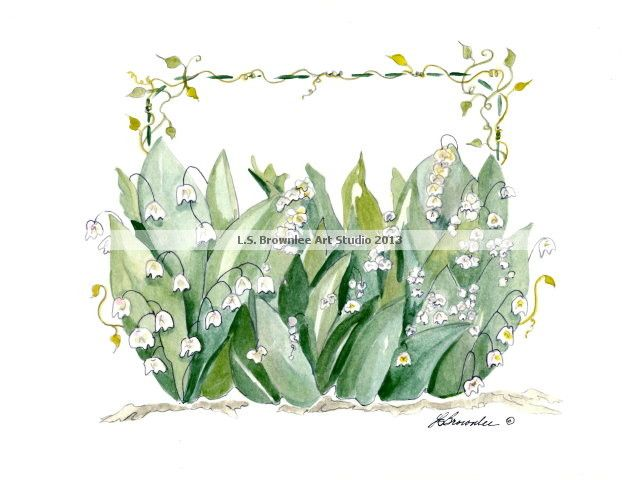 Lily of the Valley Purse to match the shoe.  Original and print both available at this time.