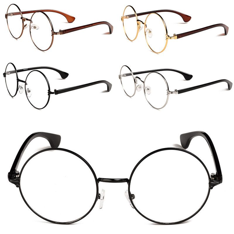 Urltra-luz Retro redondo Metal Frame óculos óculos Unisex Eyewear ... 1b7c13316f
