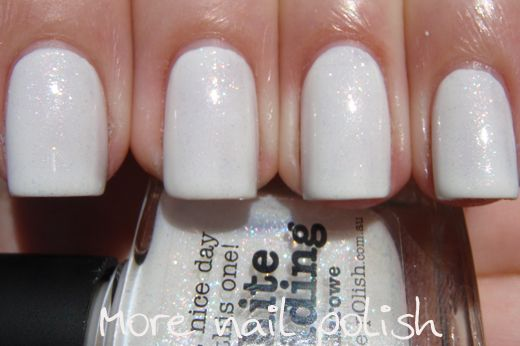 piCture pOlish 'White Wedding' by Llarowe swatched by More Nail Polish!