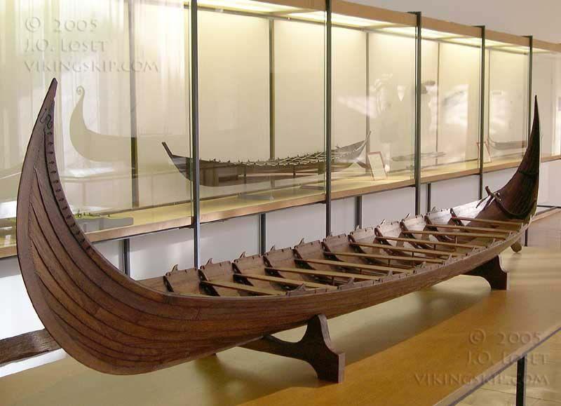 Copyright 2004 Jorn Loset The Kvalsund Ship Viking Ship Predessesor Vikingskip Trebater Modell