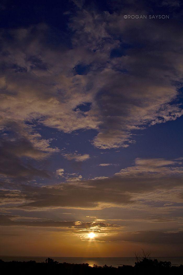 Sunset at the hillside Tagbilaran City, Bohol, Philippines