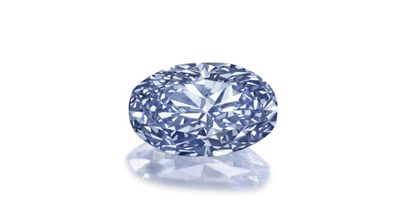 This 3.81-carat oval-cut fancy intense blue diamond is expected to be the top lot at Bonhams' Sept. 20 Fine Jewellery sale in London.