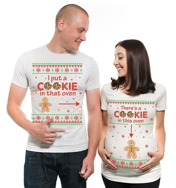 363c0d3591f Christmas Couple Maternity Shirt Baby Announcement Christmas Shirt  Christmas Pregnancy Announcement
