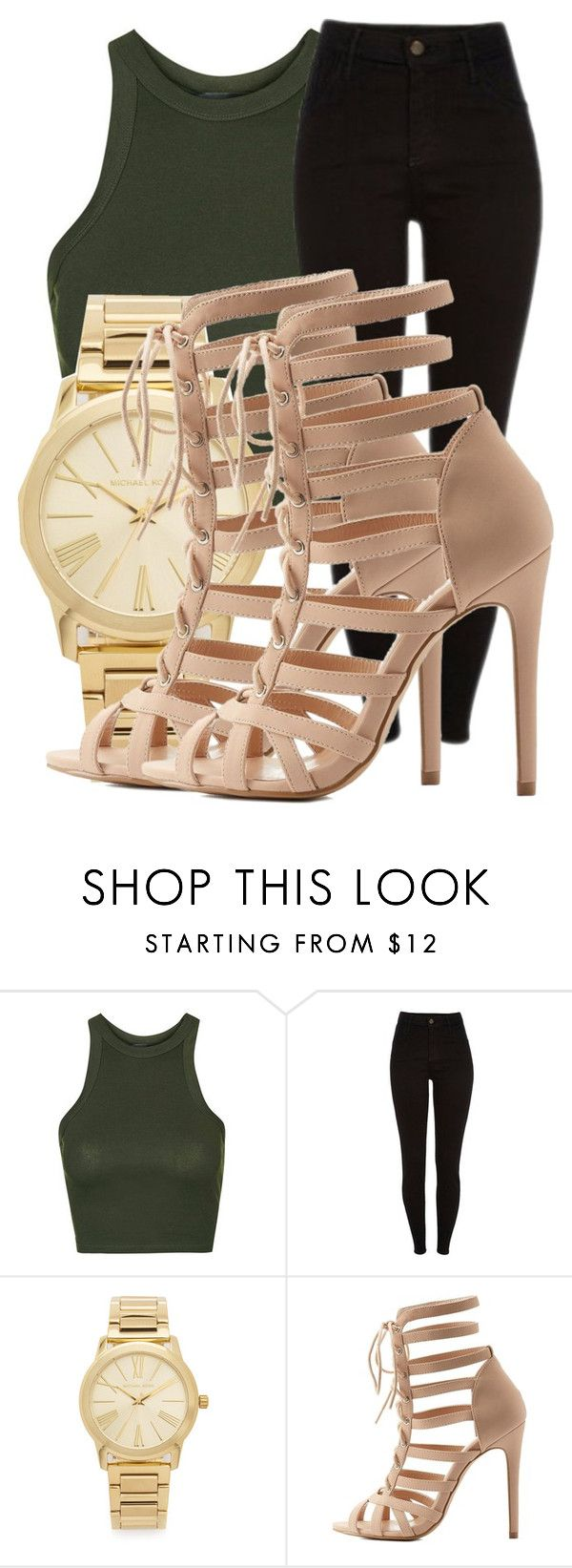 """Untitled #1238"" by brookeevans420 ❤ liked on Polyvore featuring Topshop, Michael Kors and Charlotte Russe"