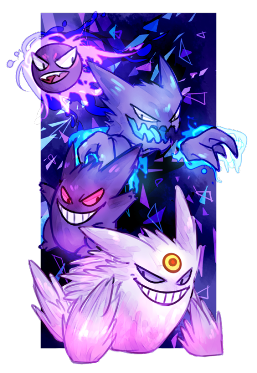 Gastly Haunter Gengar And Mega Gengar Pokemon Pinterest