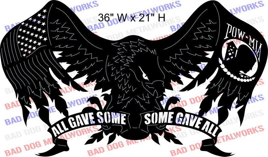 Download POW MIA Eagle Dxf Svg Bad Dog Metalworks Cnc Plasma | Etsy ...