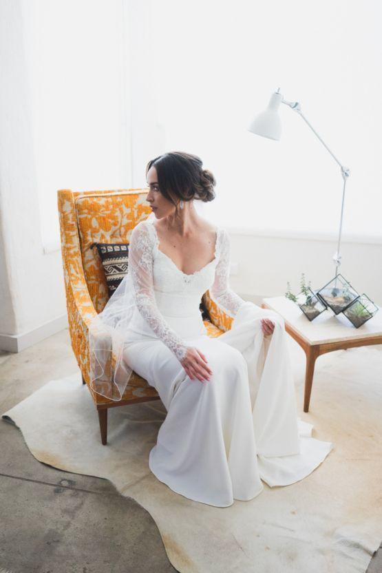 Trendy Wedding Dresses Modern Hip Taco In A Funky Gallery Venue